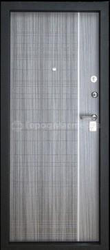 Дверь Город мастеров Днепр Черный сатин со вставкой  Сандал серый с молдингом