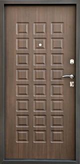 Дверь Город мастеров Виктория Черный металлик  Венге тонкий