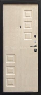 Дверь Город мастеров Звезда Черный металлик  Дуб седой тонкий №107