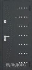Дверь Бульдорс 43 Черный шелк R-15 Крем горизонт