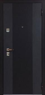 Дверь Бульдорс 44Т Черный шелк K-2 Ларче темный Т-5