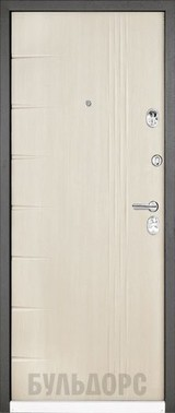 Дверь Бульдорс 44 Черный шелк R-15 Дуб беленый матовый N-11