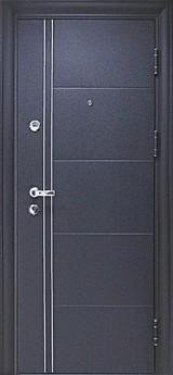 Дверь Цитадель Ferrum Чёрный шёлк  Светлый орех