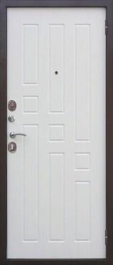 Дверь Цитадель Гарда 8мм внутреннее открывание Античная медь  Белый ясень