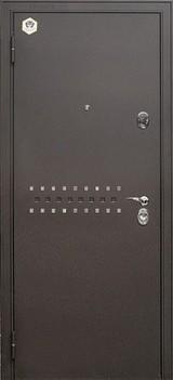 Дверь Бульдорс 44 Черный шелк R-10 Ларче темный N-12