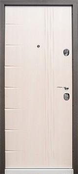 Дверь Бульдорс 44 Черный шелк R-15 Шамбори светлый N-11