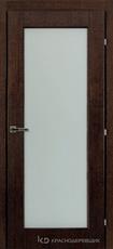Дверь Краснодеревщик 83 04 Дуб мореный натуральный шпон