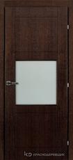 Дверь Краснодеревщик 83 06 Дуб мореный натуральный шпон
