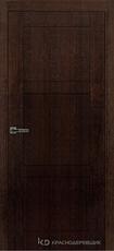 Дверь Краснодеревщик 80 00 Дуб мореный натуральный шпон