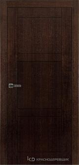 Дверь Краснодеревщик 80 00 с фурнитурой, Дуб мореный натуральный шпон