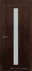 Дверь Краснодеревщик 80 02 с фурнитурой, Дуб мореный натуральный шпон