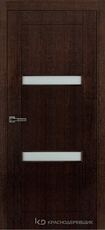 Дверь Краснодеревщик 80 06 с фурнитурой, Дуб мореный натуральный шпон