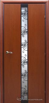 Дверь Краснодеревщик 73 02 с фурнитурой, Бразильская груша натуральный шпон