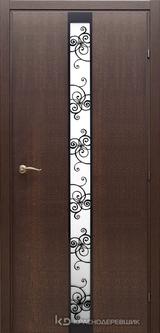 Дверь Краснодеревщик 73 02 с фурнитурой, Дуб кофе натуральный шпон