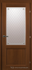 Дверь Краснодеревщик 63 24 с фурнитурой, Танганика CPL