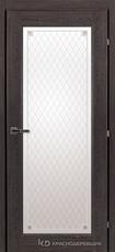 Дверь Краснодеревщик 63 40 с фурнитурой, Дуб шварц CPL