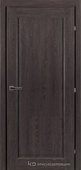 Дверь Краснодеревщик 63 39 с фурнитурой, Дуб шварц CPL
