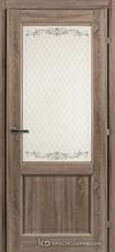 Дверь Краснодеревщик 63 24 с фурнитурой, Сонома ламинат