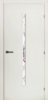 Дверь Краснодеревщик 50 33 (стекло Лиа) с фурнитурой, Белый CPL