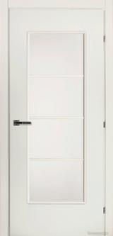 Дверь Краснодеревщик 50 40М (матовое стекло) с фурнитурой, Белый CPL