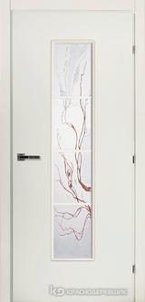 Дверь Краснодеревщик 50 66 (стекло Лиана) с фурнитурой, Белый CPL