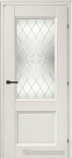 Дверь Краснодеревщик 33 24Ф (стекло Денор) с фурнитурой, Белый CPL