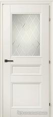 Дверь Краснодеревщик 33 42Ф (стекло кристалл) с фурнитурой, Белый CPL