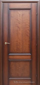 Дверь Краснодеревщик 33 23 с фурнитурой, Кофе натуральный шпон