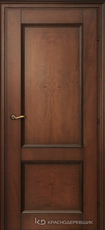 Дверь Краснодеревщик 33 23 с фурнитурой, Кофе гравировка натуральный шпон