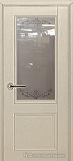 Дверь Краснодеревщик 33 24 с фурнитурой, Эмаль жемчужная натуральный шпон