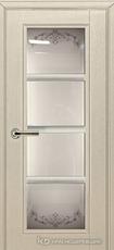 Дверь Краснодеревщик 33 40 с фурнитурой, Эмаль жемчужная натуральный шпон