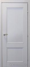Дверь Краснодеревщик 33 23 с фурнитурой, Эмаль светло-серая натуральный шпон