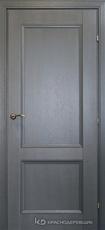 Дверь Краснодеревщик 33 23 с фурнитурой, Эмаль серая натуральный шпон