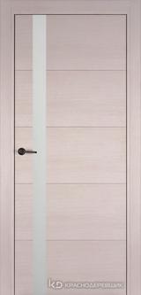 Дверь Краснодеревщик 7 01 (стекло белое) с фурнитурой, Дуб светлый sincrolam