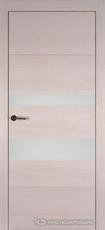 Дверь Краснодеревщик 7 03 (стекло белое) с фурнитурой, Дуб светлый sincrolam