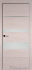 Дверь Краснодеревщик 7 03М (молдинг, стекло белое) с фурнитурой, Дуб светлый sincrolam