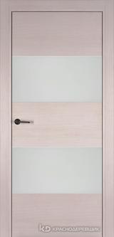 Дверь Краснодеревщик 7 05 (стекло белое) с фурнитурой, Дуб светлый sincrolam