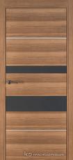 Дверь Краснодеревщик 7 03М (молдинг, стекло Мателак сильвер) с фурнитурой, Дуб чайный sincrolam