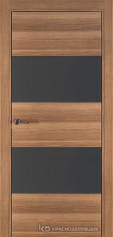 Дверь Краснодеревщик 7 05 (стекло Мателак сильвер) с фурнитурой, Дуб чайный sincrolam