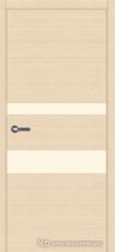 Дверь Краснодеревщик 7 03 (стекло Лакобель жемчужно-белый) с фурнитурой, Дуб выбеленный sincrolam