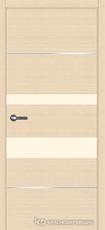 Дверь Краснодеревщик 7 03М (молдинг, стекло Лакобель жемчужно-белый) с фурнитурой, Дуб выбеленный sincrolam