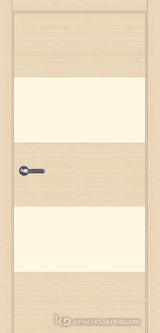 Дверь Краснодеревщик 7 05 (стекло Лакобель жемчужно-белый) с фурнитурой, Дуб выбеленный sincrolam