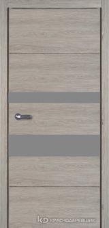 Дверь Краснодеревщик 7 03 (стекло Мателак сильвер) с фурнитурой, Дуб пепельный sincrolam
