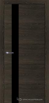 Дверь Краснодеревщик 7 01 (стекло Мателак сильвер) с фурнитурой, Дуб Шварц sincrolam