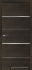 Дверь Краснодеревщик 7 00М (молдинг) с фурнитурой, Дуб Шварц sincrolam