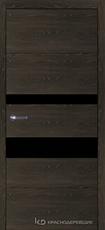 Дверь Краснодеревщик 7 03 (стекло Мателак сильвер) с фурнитурой, Дуб Шварц sincrolam