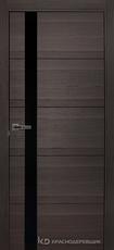 Дверь Краснодеревщик 7 01 (стекло черное) с фурнитурой, Нордик sincrolam