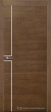 Дверь Краснодеревщик 707 (молдинг) с фурнитурой, натуральный шпон Дуб кофе