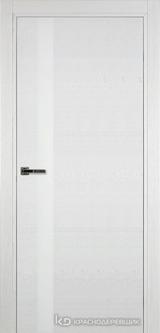 Дверь Краснодеревщик 7 01 (стекло белое) с фурнитурой, Эмаль белая натуральный шпон