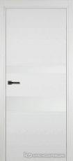 Дверь Краснодеревщик 703 (стекло белое) с фурнитурой, натуральный шпон Эмаль белая